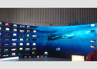 48SQM P3.91 Indoor Rental Curved Led Screen in Mexico